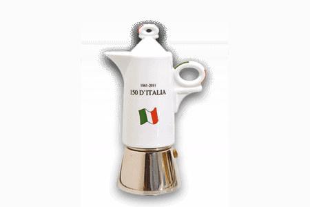 Espressokocher Ancap GIOTTO 150 anni d'Italia - 2 Tassen