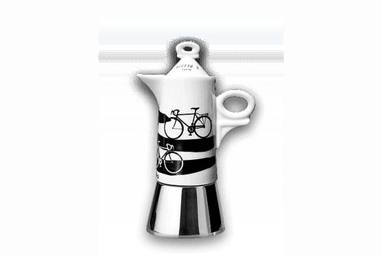 Espressokocher Ancap GIOTTO Italia in bici-2 Tassen à-porter