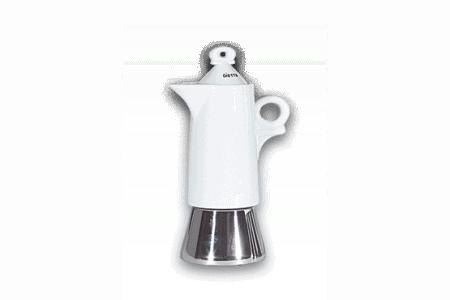 Espressokocher Ancap GIOTTO Bianco - 2 Tassen à-porter